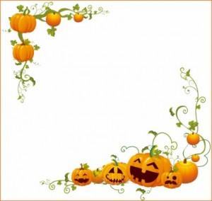 Halloween Pumpkin Border Clip Art5 300×284