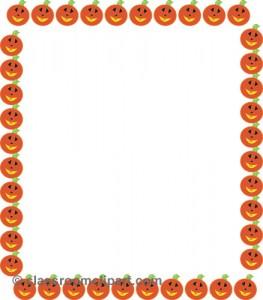 Halloween Pumpkin Border Clip Art7 263×300