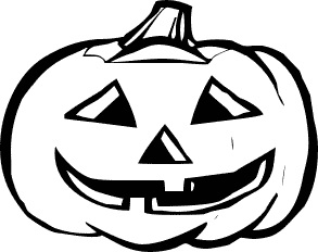 Halloween Pumpkin Clip Art Black And White2