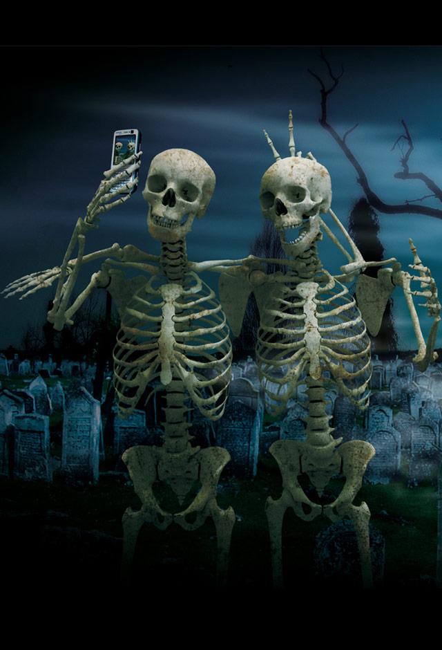 halloween skeleton wallpaper - photo #7
