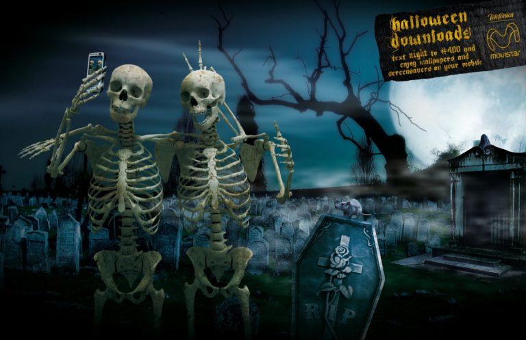 Halloween Skeleton Wallpaper 768×497