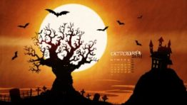 Halloween Wallpaper Calendars 300×169