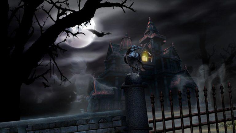 Halloween Wallpaper Haunted House 768×432