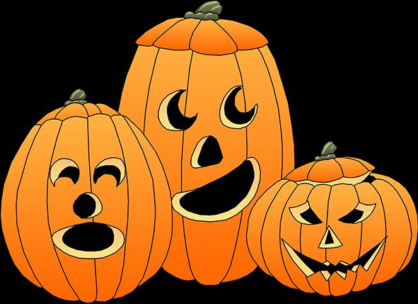 Happy Halloween Pumpkin Clip Art1