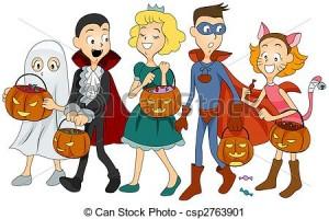 Kids In Halloween Costumes Clip Art1 300×200