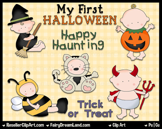 My First Halloween Clip Art