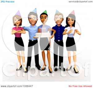 Office Party Halloween Clip Art5 300×284