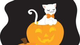 Orange Halloween Cat Clip Art7