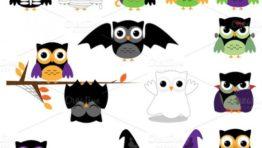 Owl Halloween Clip Art Download4