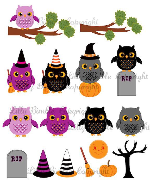 Owl Halloween Clip Art Download7