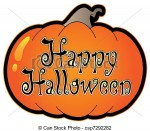 Pumpkin Clip Art Happy Halloween1 150×131