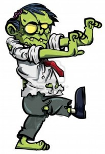 Scary Halloween Zombie Clip Art2 206×300