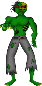 Scary Halloween Zombie Clip Art3 147×300