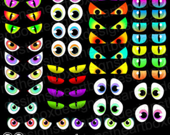 Spooky Halloween Eyes Clip Art3