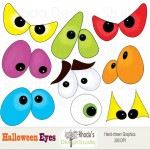 Spooky Halloween Eyes Clip Art6 150×150