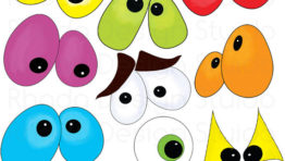 Spooky Halloween Eyes Clip Art6