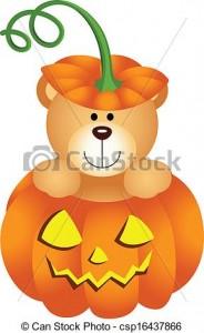 Teddy Bear Halloween Clipart 184×300