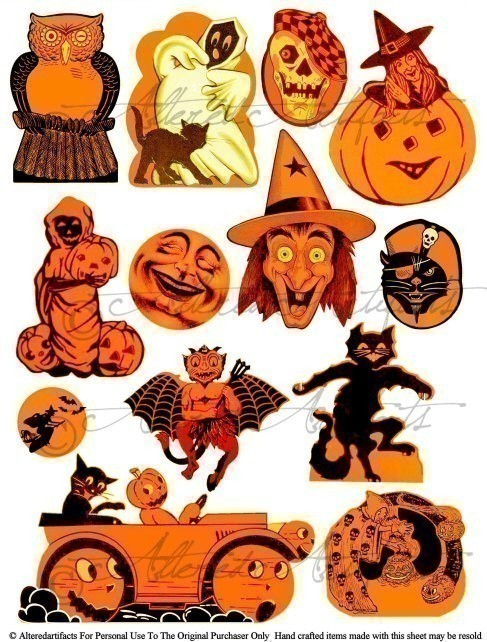 Vintage Halloween Images Clip Art1