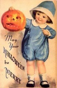 Vintage Halloween Postcards Clip Art2 195×300