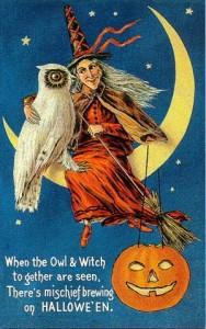 Vintage Halloween Postcards Clip Art8 188×300
