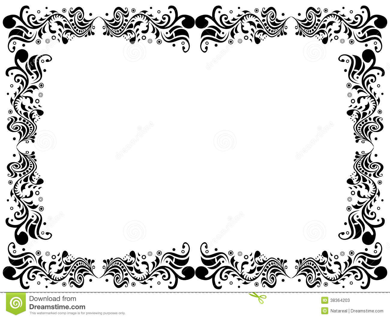 black and white flower borders pictures to pin on