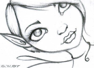 Gallery For gt Easy Pencil Drawings Of Dark Fairies