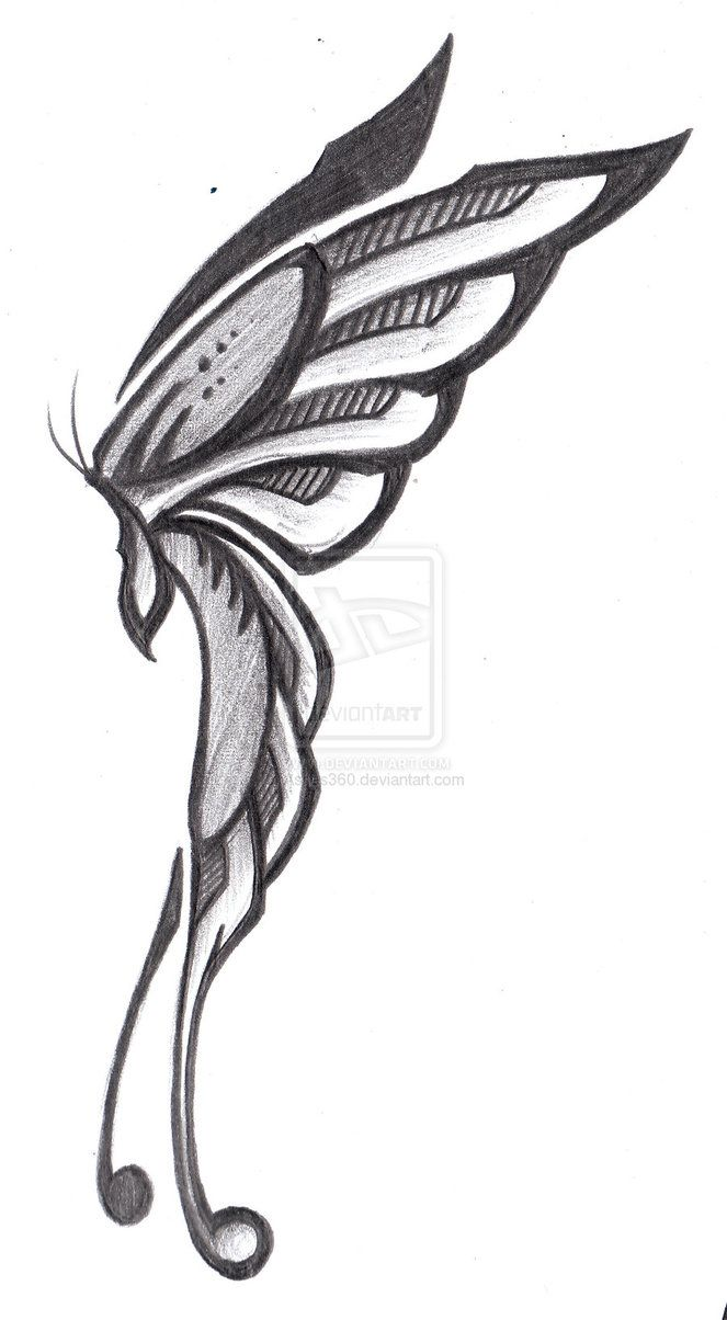 Fairy Wings Drawing Side View Images | The Art Mad Wallpapers Fairy ...