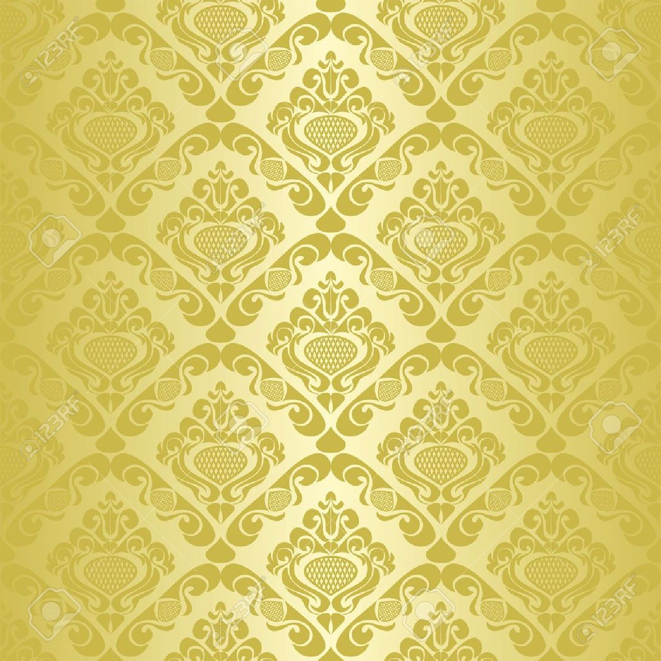 white and gold floral wallpaper - photo #29