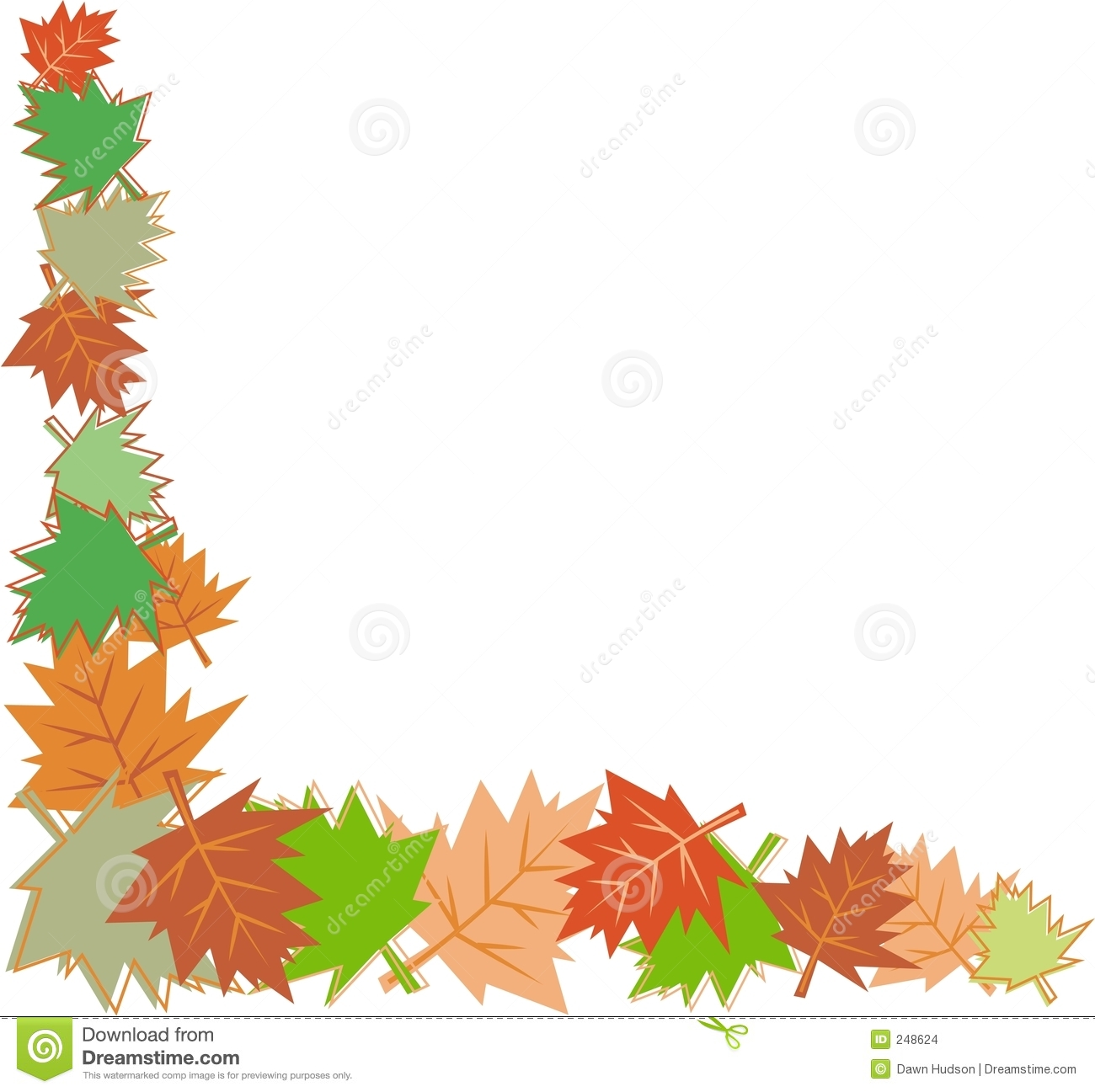 Thanksgiving Leaf Border Clip Art | The Art Mad Wallpapers