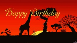 Wildlife Happy Birthday Ecard